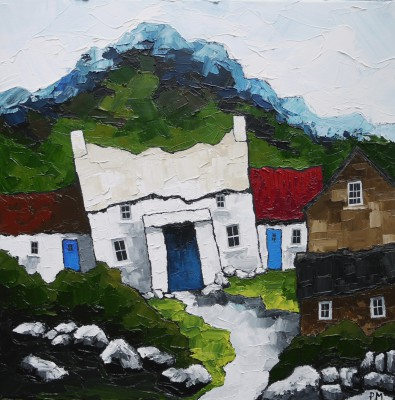 British Artist Peter MORGAN - Summer Blues Treleddyd Fawr Farm
