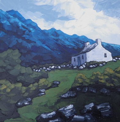 British Artist Peter MORGAN - All Alone In Snowdonia