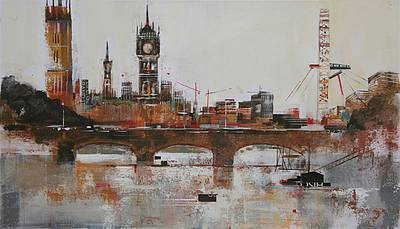 Limited Edition Prints Artist Nagib Karsan - View to Big Ben