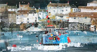 Limited Edition Prints Artist Nagib Karsan - Fishermen's Cottages, Polperro