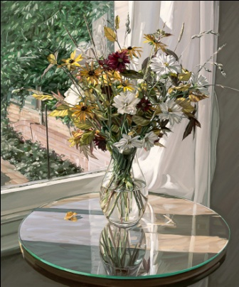 British Artist Jim Farrant - Autumn Flowers