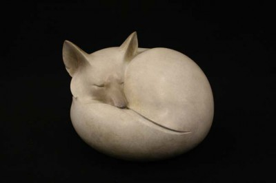 Sculpture and Sculptors Artist Adam BINDER - Arctic Fox