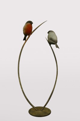 Sculpture and Sculptors Artist Adam BINDER - Bull Finches (Edition 9/24)