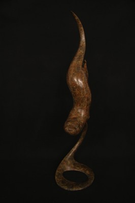 Sculpture and Sculptors Artist Adam BINDER - Diving Otter /12