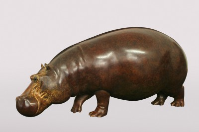 Sculpture and Sculptors Artist Adam BINDER - Hippo (Edition 10/12)