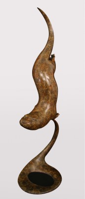Sculpture and Sculptors Artist Adam BINDER - Diving Otter