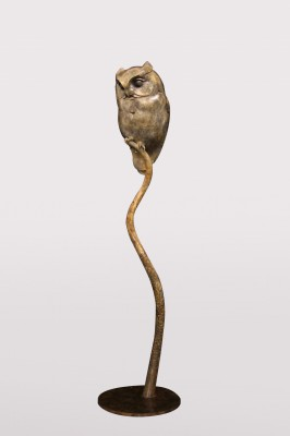 Sculpture and Sculptors Artist Adam BINDER - Scops Owl (Edition 6/18)