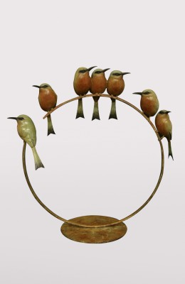 Sculpture and Sculptors Artist Adam BINDER - Seven Bee Eaters (Edition 2/12)