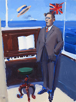 Elgar All At Sea painting by artist Alan KINGSBURY