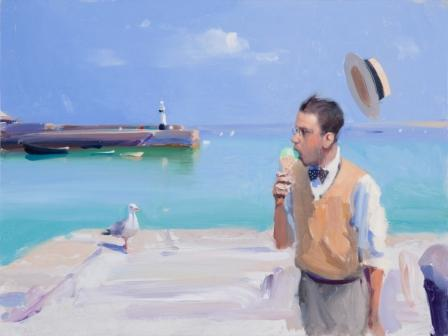 British Artist Alan KINGSBURY - Vanilla Mint Sunday, St Ives