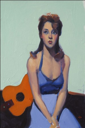 British Artist Alan KINGSBURY - Songstress