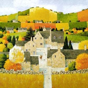British Artist Alan Parry - Home Farm