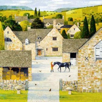 British Artist Alan Parry - The Stable Yard