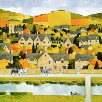 British Artist Alan Parry - Village Life