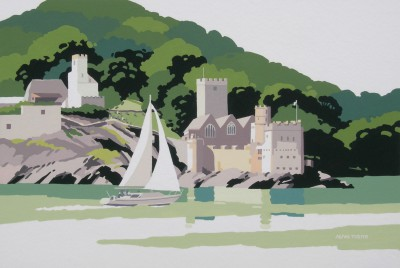 Dartmouth Castle painting by artist Alan TYERS