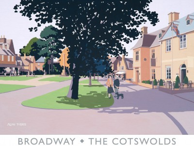 Limited Edition Prints Artist Alan Tyers - Broadway - The Cotswolds
