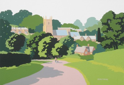 British Artist Alan TYERS - Blockley Village