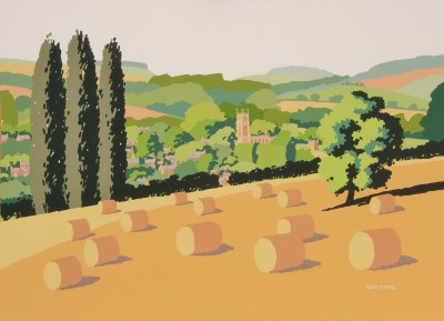 British Artist Alan TYERS - Hayrolls, Chipping Campden