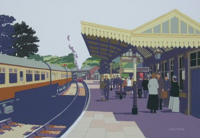 British Artist Alan TYERS - Winchcombe Station, the Cotswolds