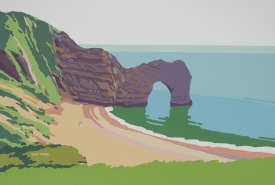 British Artist Alan TYERS - Durdle Door, Jurassic Coast, Dorset