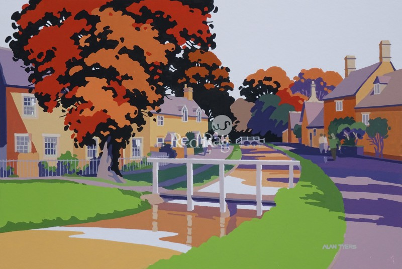 Alan TYERS - Autumn, Lower Slaughter, The Cotswolds