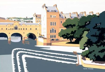 British Artist Alan TYERS - Pulteney Bridge