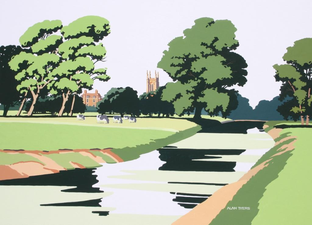 Alan TYERS - Shakespeare Country: The Avon at Charlecote Park