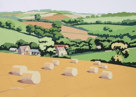 British Artist Alan TYERS - Near Guiting Power, The Cotswolds