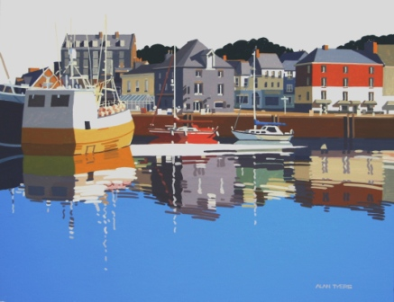 Alan TYERS - The Yellow Boat, Padstow Harbour