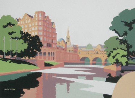 British Artist Alan TYERS - The Avon at Bath