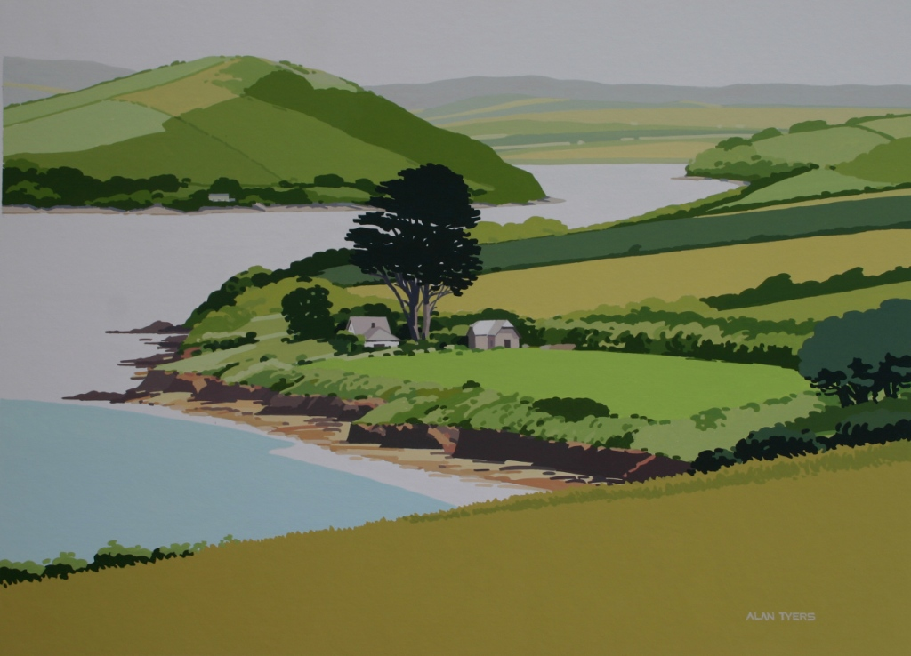 Alan TYERS - Camel Estuary from the Monument, Padstow