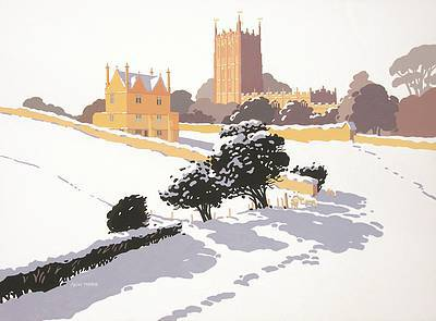 British Artist Alan TYERS - Chipping Campden under Snow