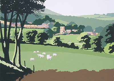 British Artist Alan TYERS - Guiting Power, Cotswolds