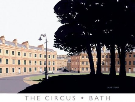Limited Edition Prints Artist Alan Tyers - The Circus, Bath