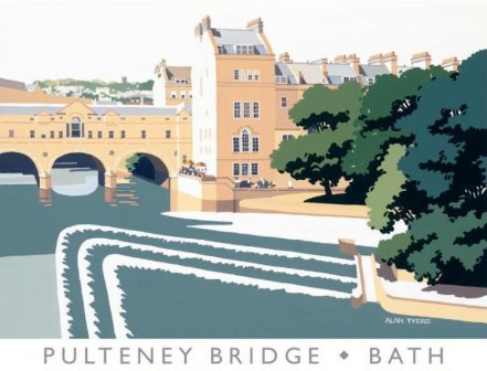 Limited Edition Prints Artist Alan Tyers - Pulteney Bridge, Bath