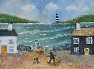 Going Fishing painting by artist Alexandra CHURCHILL