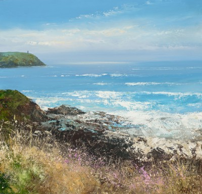 Watching the Sea, Stepper Point  painting by artist Amanda HOSKIN