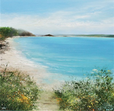 British Artist Amanda HOSKIN - Summer Path Down to the Beach, Tresco