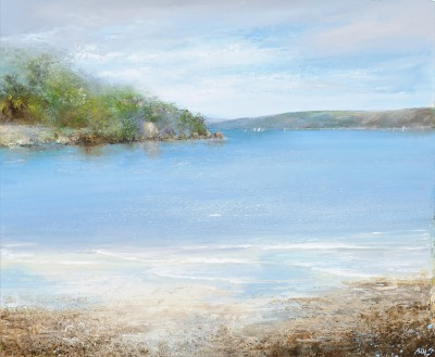 British Artist Amanda HOSKIN - The Gentle Movement of the Sea is Mesmerizing, Salcombe