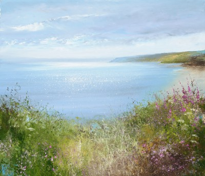 British Artist Amanda HOSKIN - Summer Flowers, Start Point