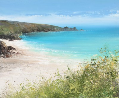 Amanda HOSKIN - Porthcurno Bathed in the Afternoon Sun