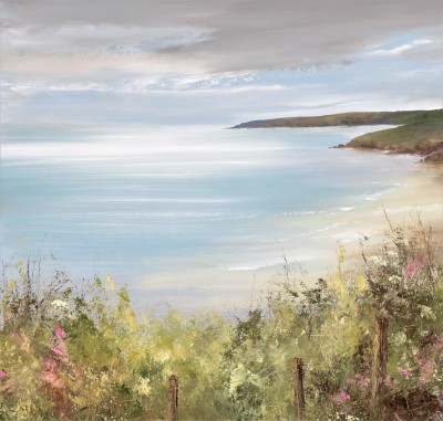 Amanda HOSKIN - Stunning Light across the Bay, Start Point, Devon