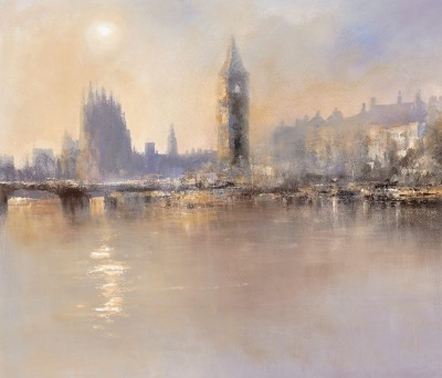 Reflections, The River Thames painting by artist Amanda HOSKIN