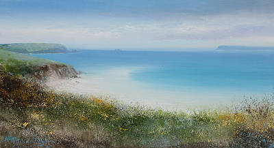 British Artist Amanda HOSKIN - Early Spring Day at Harbour Cove, Padstow