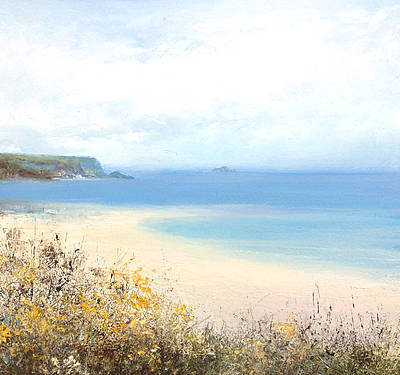 British Artist Amanda HOSKIN - Bright Yellow Gorse