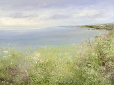 Summer Flowers, Lantic Bay painting by artist Amanda HOSKIN