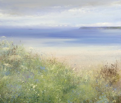 British Artist Amanda HOSKIN - Blue Bells in May at Padstow