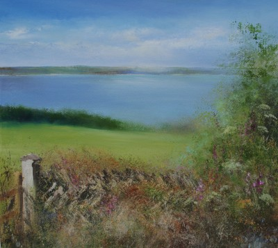 Beautiful Summer's Day, Mylor, Cornwall painting by artist Amanda HOSKIN