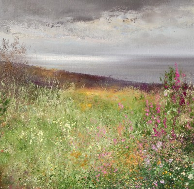 Amanda HOSKIN - Silver Light and Foxgloves, near Padstow