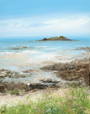 Amanda HOSKIN - Sea Pinks at Godrevy Lighthouse